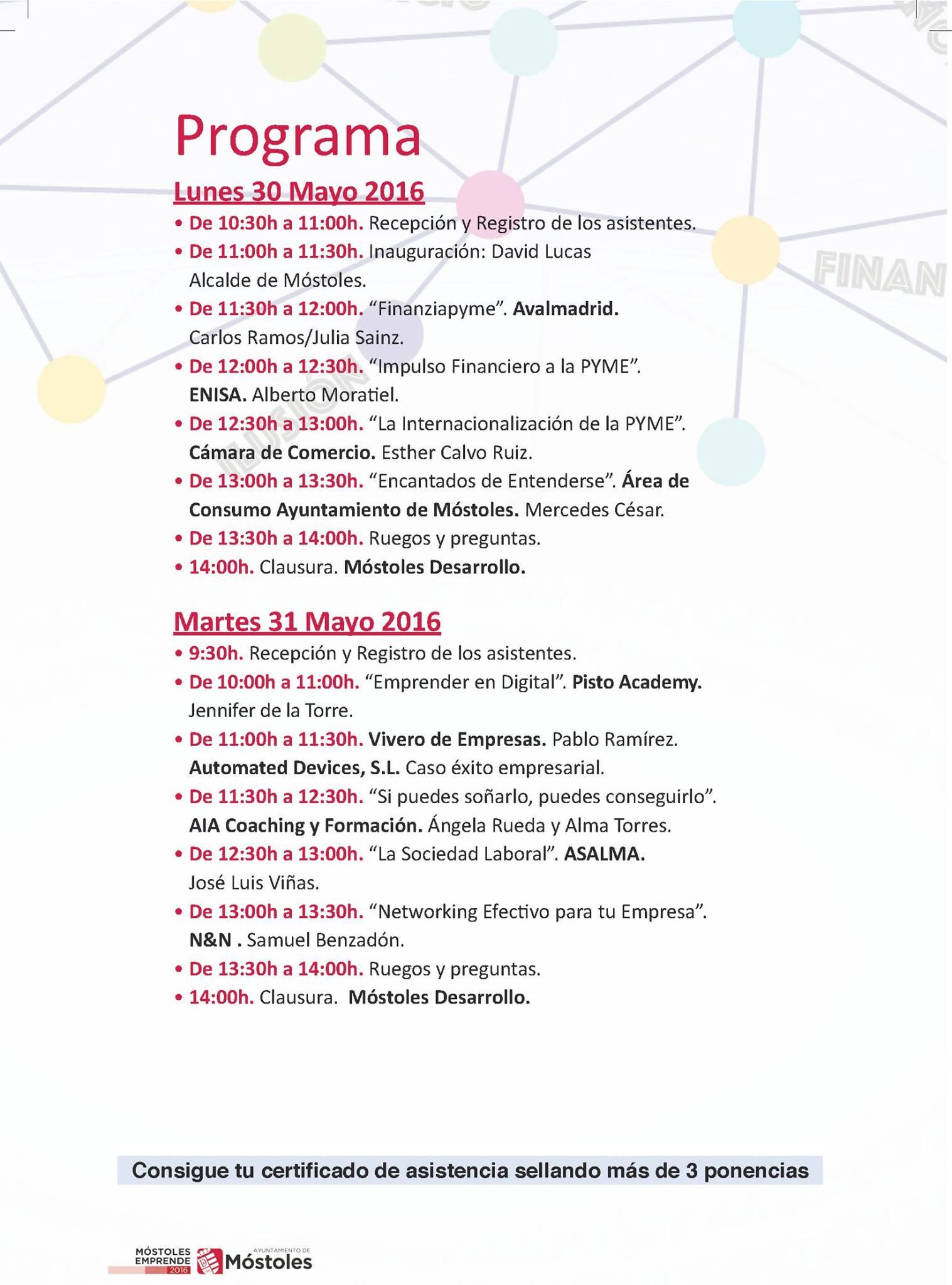 PROGRAMA 30 Y 31 DE MAYO