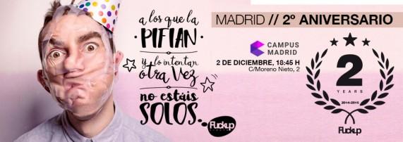 FUCKUP NIGHTS MADRID SEGUNDO ANIVERSARIO