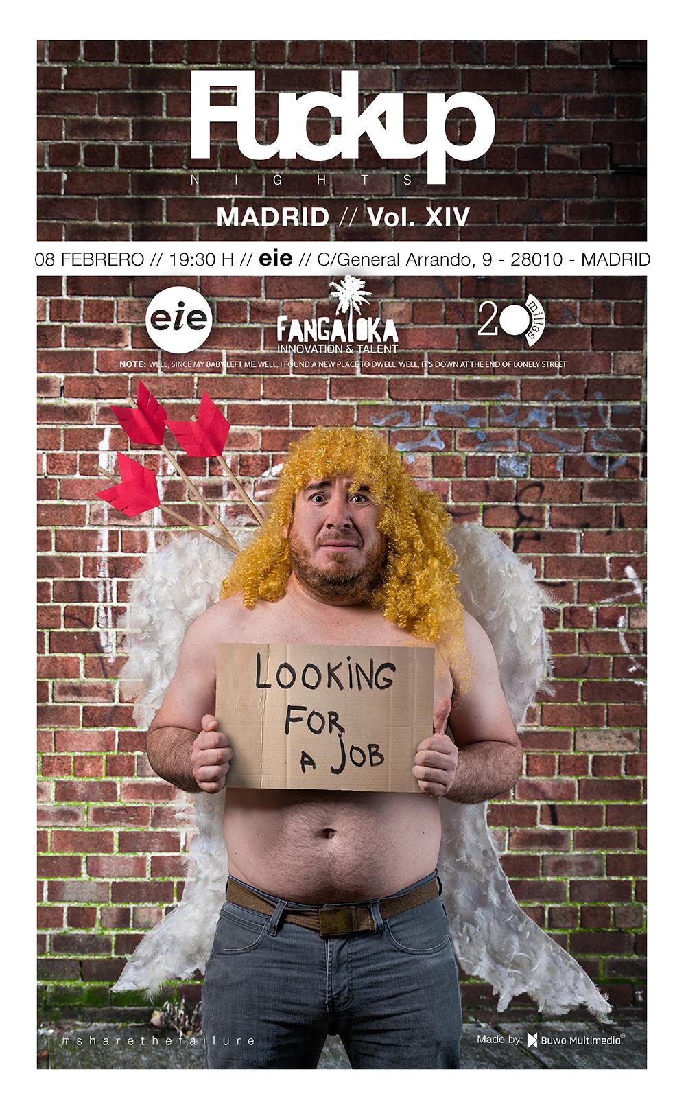 Fuckup Nights Madrid volumen XIX - Cupido Edición.
