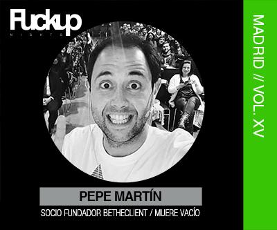 Pepe Martín FuckUP Nights Madrid